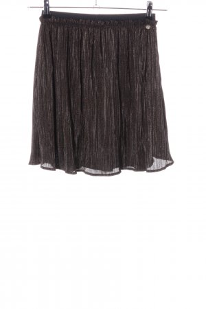 Rich & Royal Pleated Skirt brown flecked casual look