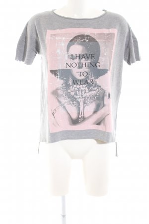 Rich & Royal Print-Shirt hellgrau meliert Casual-Look