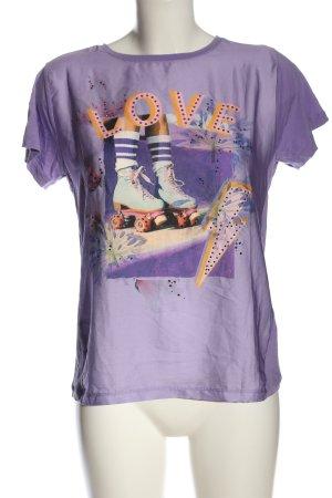 Rich & Royal Camiseta estampada lila estampado temático look casual
