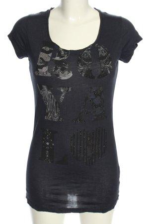Rich & Royal Print-Shirt Motivdruck Casual-Look