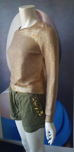 Rich & Royal pullover golden trend 2021 shorts bermuda Steinchen