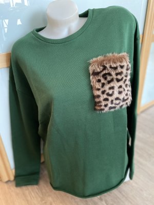 Rich & Royal Pullover Leo Fell grün Gr.42 L XL