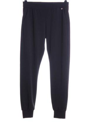 Rich & Royal Pantalon large noir style décontracté
