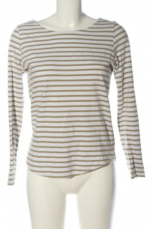 Rich & Royal Gestreept shirt wit-bruin gestreept patroon casual uitstraling