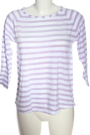 Rich & Royal Camisa de rayas blanco-lila look casual