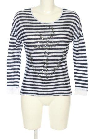 Rich & Royal Ringelshirt schwarz-weiß Streifenmuster Casual-Look