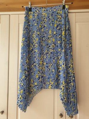 Rich & Royal Asymmetrische rok geel-korenblauw