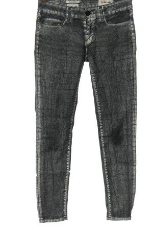 Rich & Royal Jeansy rurki jasnoszary-czarny Abstrakcyjny wzór Elegancki