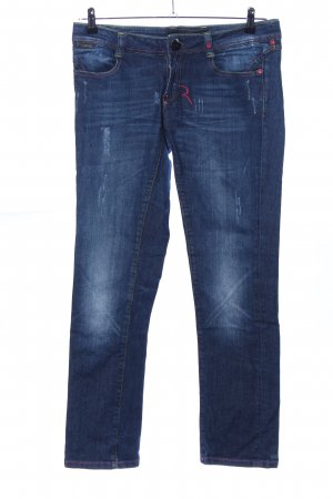 Rich & Royal Röhrenjeans blau Casual-Look