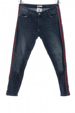 Rich & Royal Tube jeans blauw-rood casual uitstraling