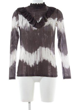 Rich & Royal Rollkragenpullover abstraktes Muster Casual-Look