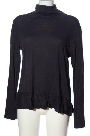 Rich & Royal Turtleneck Shirt black flecked casual look