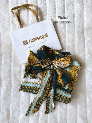 Rich & Royal Tie-neck Blouse multicolored viscose
