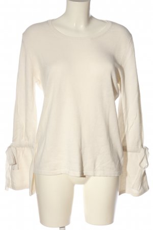Rich & Royal Rundhalspullover creme Casual-Look