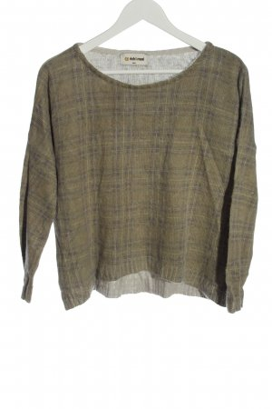 Rich & Royal Knitted Sweater brown-blue check pattern casual look