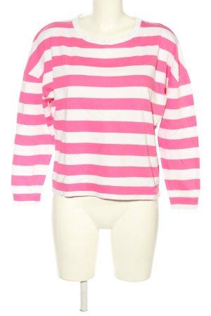 Rich & Royal Rundhalspullover pink-weiß Allover-Druck Casual-Look