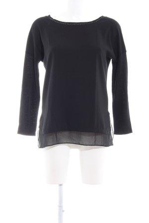 Rich & Royal Rundhalspullover schwarz Elegant