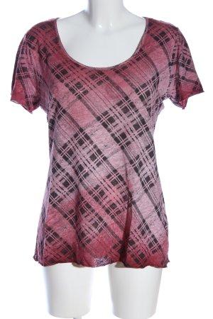 Rich & Royal Schlupf-Bluse pink-schwarz Karomuster Casual-Look