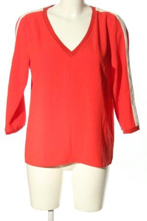 Rich & Royal Schlupf-Bluse rot-weiß klassischer Stil