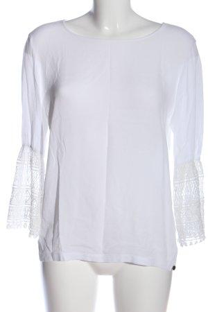 Rich & Royal Schlupf-Bluse weiß Casual-Look