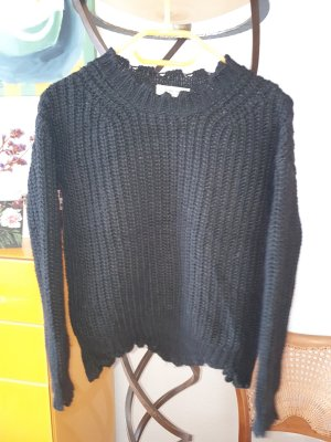Rich & Royal Coarse Knitted Sweater black mixture fibre
