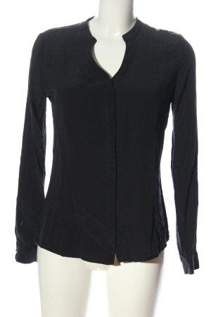 Rich & Royal Jedwabna bluzka czarny W stylu biznesowym