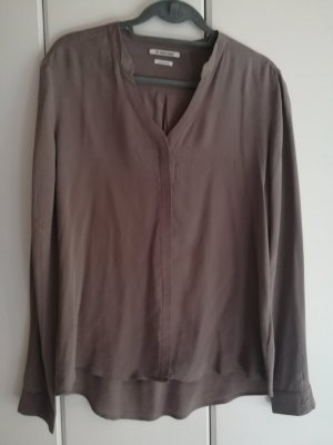 Rich & Royal Silk Blouse grey brown silk