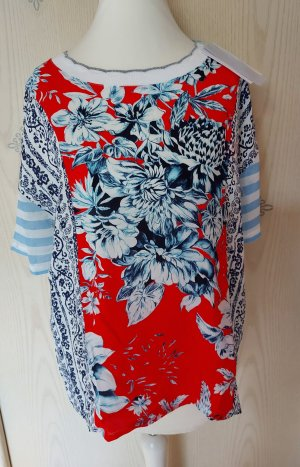 Rich & Royal Camisa holgada magenta-azul claro