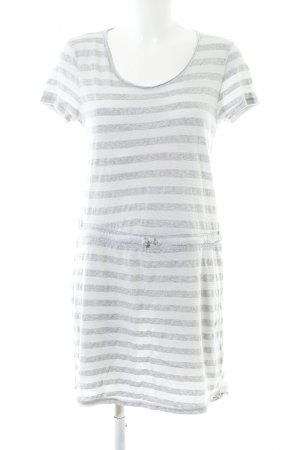 Rich & Royal Shirtkleid hellgrau-weiß Streifenmuster Casual-Look