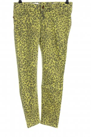 Rich & Royal Skinny Jeans grün-schwarz Allover-Druck extravaganter Stil