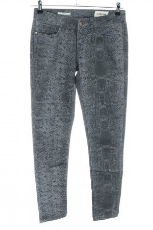 Rich & Royal Skinny Jeans hellgrau Animalmuster Casual-Look