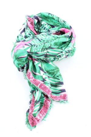 Rich & Royal Écharpe d'été vert-rose imprimé allover élégant