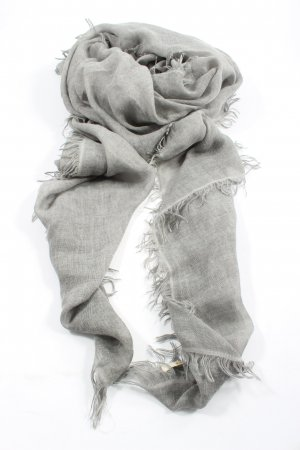 Rich & Royal Summer Scarf light grey weave pattern casual look