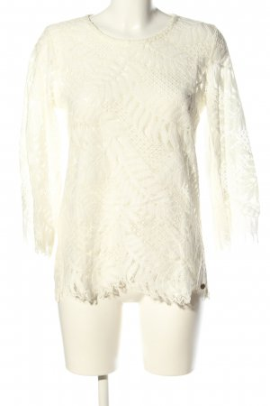 Rich & Royal Spitzenbluse creme Blumenmuster Casual-Look