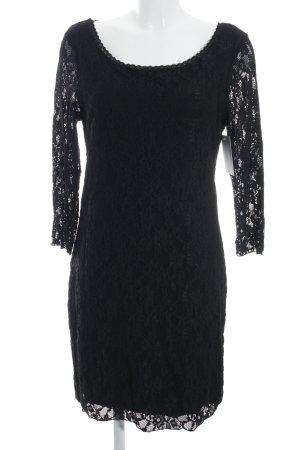 Rich & Royal Spitzenkleid schwarz Elegant
