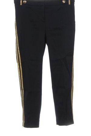 Rich & Royal Stoffhose schwarz-goldfarben Casual-Look