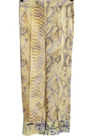 Rich & Royal Stoffhose blassgelb-lila Animalmuster Casual-Look