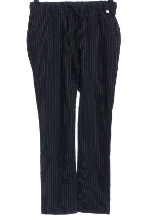 Rich & Royal Stoffhose schwarz-weiß Streifenmuster Casual-Look