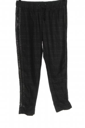 Rich & Royal Stoffhose schwarz-silberfarben Allover-Druck Elegant