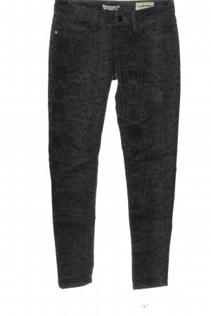 Rich & Royal Jersey Pants light grey allover print casual look