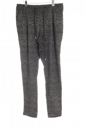 Rich & Royal Stoffhose schwarz-ocker abstraktes Muster Casual-Look