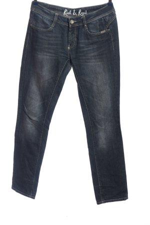Rich & Royal Jeansy z prostymi nogawkami niebieski W stylu casual