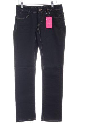 Rich & Royal Jeansy z prostymi nogawkami ciemnoniebieski Prosty styl