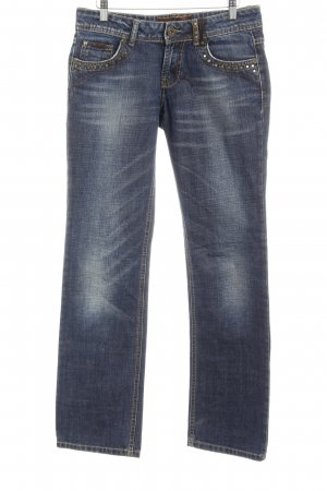 "Rich & Royal Straight-Leg Jeans ""Marry Red"" blau"