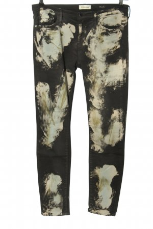 Rich & Royal Stretch Trousers black-white allover print casual look