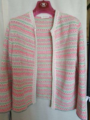 Rich&Royal Strick Blazer Jacke Cardigan pink mint bunt gemusterte langarm Gr L