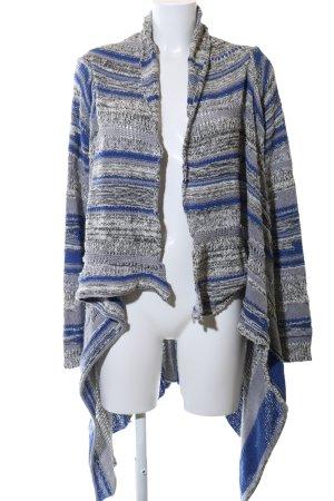 Rich & Royal Strick Cardigan blau-hellgrau Streifenmuster Elegant