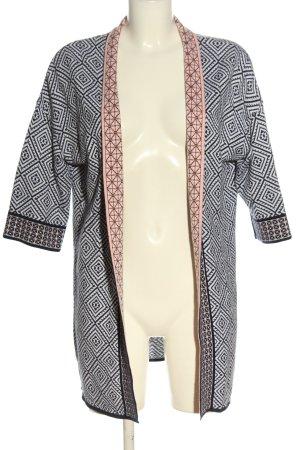 Rich & Royal Strick Cardigan schwarz-weiß Allover-Druck Casual-Look