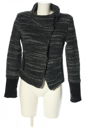Rich & Royal Knitted Blazer black flecked casual look