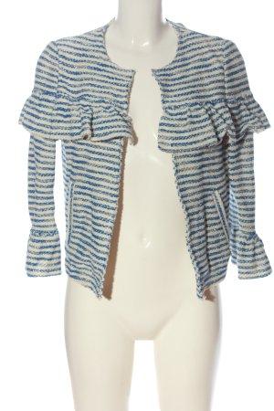 Rich & Royal Blazer en maille tricotée bleu-blanc cassé motif rayé